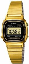 Casio Ladies Bracelet Digital Watch, Black & Gold