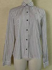Sportliche LACOSTE Langarm Bluse, Hemd Baumwolle weiß-schwarz gestreift Gr. 38