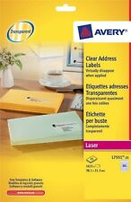 Avery Laser Mini Clear 65 Labels Per Sheet 25 In Pack L7551 Opaque New