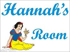 DISNEY PRINCESS NAME SIGN PLAQUE PERSONALISED NAME PLATE SNOW WHITE GIRLS GIFT