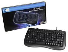 Cit 8118 Black Mini Multimedia Keyboard USB & PS/2 KB-8118CB