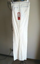 NEW WITH TAGS NWT - VSSP - WHITE COTTON STRETCH PANTS - Size 12 - RRP $199.95