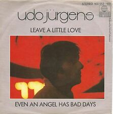 "Udo Jürgens - Leave A Little Love (7"" Ariola Vinyl-Single Germany 1981)"