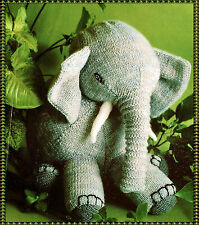 """KNITTING Pattern-  Childs Knitted Elephant  pattern in DK- Measures 14"""""""