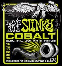 1 Set of Ernie Ball Regular Slinky Cobalt 10 - 46 Electric Guitar Strings (2721)