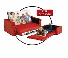 New Kids Girls One Direction 2 In 1 Flip Out Inflatable Bedroom Sofa