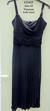 COAST Ladies Black Cocktail Party Dress  Size 12 - VGC  REDUCED!
