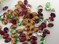 Swarovski #4130/2 Vintage Oval Rhinestone 8x6mm Bargain Pack 25 CRAFT Mix Colour