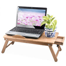 Protable Bamboo Laptop Notebook Computer Desk Bed Tray Folding Stand Table UK