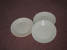 12 x 19cm Champagne Cream Plastic Reusable Recyclable Plates Picnic Party BBQ