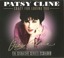 PATSY CLINE CRAZY FOR LOVING YOU - THE SIGNATURE SERIES 2 CD'S & DVD