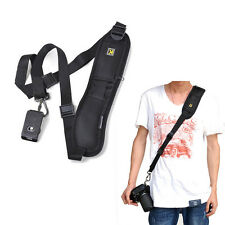 Black Quick Rapid Camera Single Shoulder Sling Neck Strap Belt for Digital DSLR