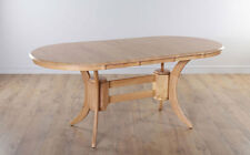 TOWNHOUSE Oval Round Extending Oak Dining Room Table Furniture