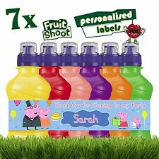 7 x Personalised Peppa Pig Fruit Shoot Bottle Label Stickers Birthday Party