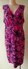 Capture size 22 purple print sleeveless dress stretch