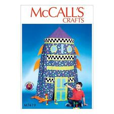 McCALL'S SEWING PATTERN CRAFTS Rocket Play Tent OSZ M7419