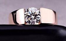 Stilvoller Damen Ring 18 Karat vergoldet auf 925 Silber Brillant/Weiss