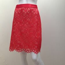 Portmans sz 14 Red Lace Evening/ Dress Style Skirt AS NEW