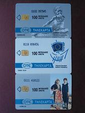 3 Telefonkarten Griechenland aus 1993/94.