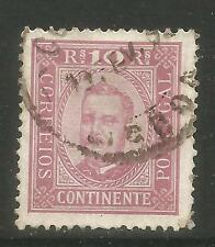 Portugal 1892-93 King Carlos 10r reddish violet (68) used