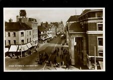 Warwicks Warwickshire COVENTRY High St early RP PPC c1930s? by Valentine
