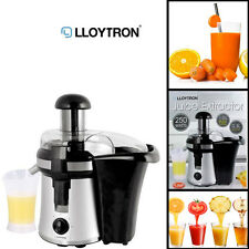 Smooth Fruit Juice Extractor 0.3LTR Lloytron Veg & Pulp Container Juicer 250W