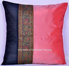 Silk Home Decor Sofa Throw Pillow Case Square Pillowcases Indian Cushion Cover