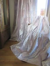 LAURA ASHLEY COCO AMETHYST THERMAL BLACKOUT CURTAINS.  ENORMOUS