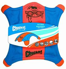 Chuckit Flying Squirrel - Durable Fabric Fetch Floating Dog Disc Toy  - Small