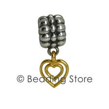 NEW Pandora Heart Of Hearts Two Tone Clip Charm 14ct Gold 925 Silver ALE 790987