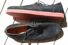 New RIVERS Black Suede Lace-Up Casual Shoes BLACK Leather Shoes Mens Size 10.