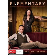 ELEMENTARY-Season 3-Region 4-New AND Sealed-6 DVD Set-TV Series