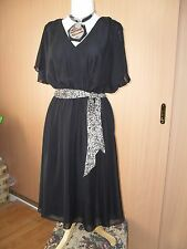 Maggie T - dress-black evening chiffon size 18, RRP $169 still has store tags