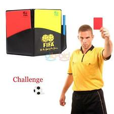 Football Soccer Referee Wallet Home Easy Notebook with Red Card and Yellow Sport