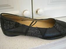 New COLORADO Black Leather Flat Shoes-Size 9.5 LOOK