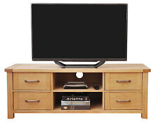Large Oak TV Stand | Wooden Media Cabinet | Entertainment Table/Unit