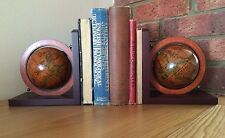 STUNNING PAIR OF GLOBE BOOKENDS VINTAGE ANTIQUE STYLE AMAZING QUALITY UNIQUE
