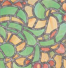 Fensterfolie Reims green yellow - bunte Glasdekorfolie selbstklebend  0,45x2 M