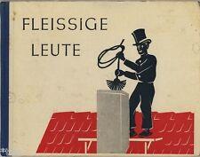 Fleissige Leute   DDR Kinderbuch 1954   Döhnel   Berufe farbige Scherenschnitte