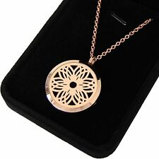 HARMONY Rose Gold Aromatherapy Essential Oil Necklace Diffuser Pendant Locket