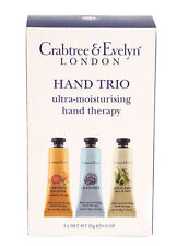 CRABTREE & EVELYN HAND CREAM 3 x 25G ULTRA-MOISTURISING THERAPY CREAM  LA SOURCE