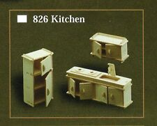 KITCHEN FURNITURE KIT IN 12th SCALE FOR DOLLS HOUSE, BRAND NEW