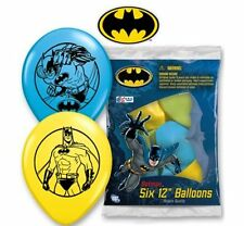 "Batman Latex Balloons 6 x 11"" Superhero Party Birthday Assorted Colours"