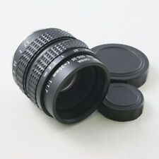 "35mm F/1.7 C Mount CCTV lens 2/3"" Black Body for M4/3 Olympus Panasonic Sony"