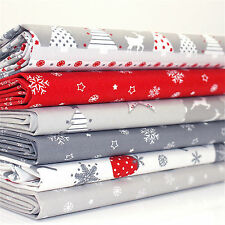 FQ Bundle - NORDIC NOEL Red White Grey Christmas x 6 100% cotton fabric
