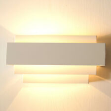 Warm white Indoor Up & Down Wall Light Curved White Sconce Lighting Lamp SA