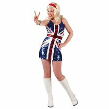 Adult Spice Girls Fancy Dress Costume Outfit New Girl 1990s Pop Star 90s Ginger