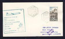 51693) LH FF Palma Spanien - Stuttgart 5.7.64, cover Brief