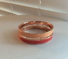 Peeptoe Brand 18k Rose Gold Plated Peach and Coral Bangle Sold Out Style Was $89