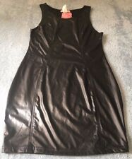 Supre Womens/Ladies Size S/10 BLACK Leather Look Party Dress - BNWT - ONE ONLY